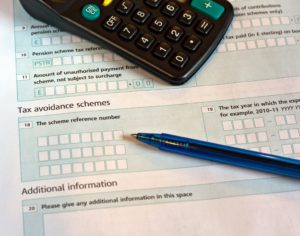 UK tax return form