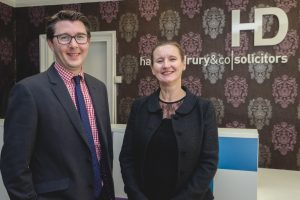L-R Duncan Rawlinson and Eve Carter