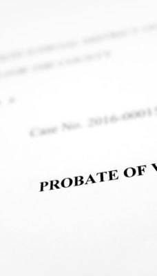 Probate of Will Legal Document