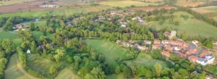arial photo of country village