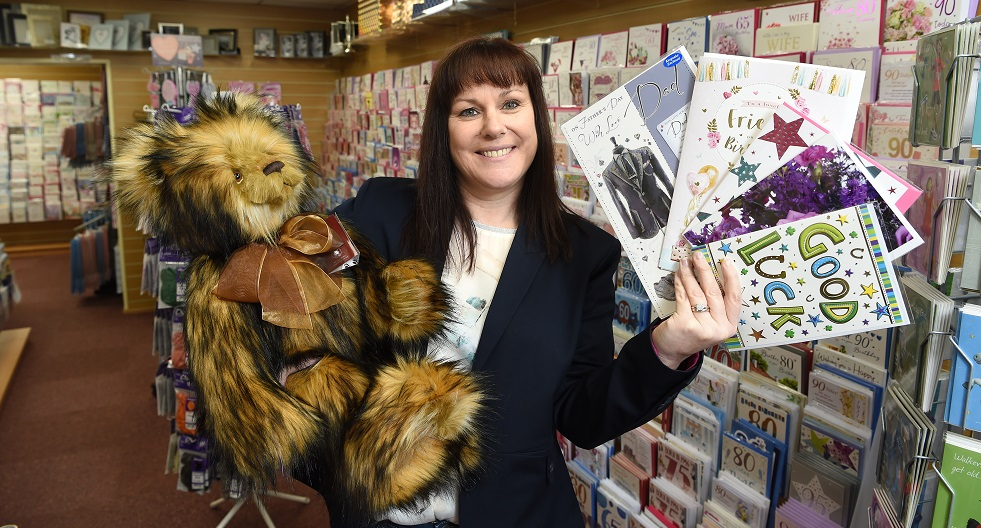 Sarah Mangan, owner Celebrations Gifts and Cards